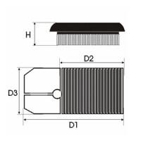 Sportovní filtr Green SEAT CORDOBA 2 1,4L i 16V  výkon 55kW (75 hp) rok výroby 00-02