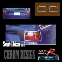 Chromové rámečky zadních světlometů Seat Ibiza rok výroby 1994-99